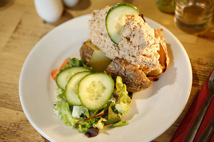 Tuna Jacket Potato at Bedgebury Cafe